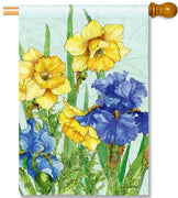 Daffodils & Irises House Flag