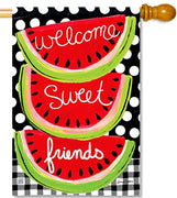 Sweet Watermelon House Flag