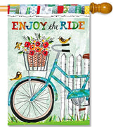 Enjoy the Ride House Flag