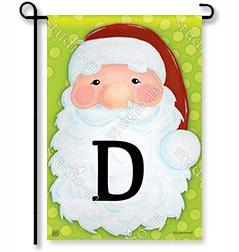 "Jolly St. Nick Mono ""D"" Garden Flag"
