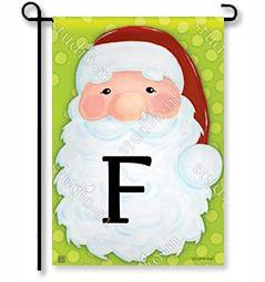 "Jolly St. Nick Monogram ""F"" Garden Flag"