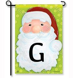 "Jolly St. Nick Mono ""G"" Garden Flag"