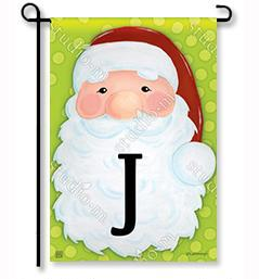 "Jolly St. Nick Mono ""J"" Garden Flag"