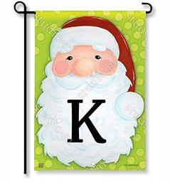 "Jolly St. Nick Mono ""K"" Garden Flag"