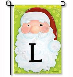"Jolly St. Nick Mono ""L"" Garden Flag"