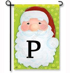 "Jolly St. Nick Mono ""P"" Garden Flag"
