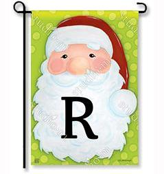 "Jolly St. Nick Mono ""R"" Garden Flag"