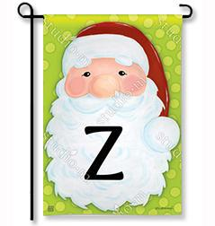 "Jolly St. Nick Mono ""Z"" Garden Flag"