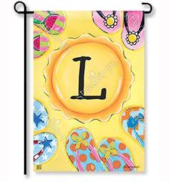 "Soak Up the Sun Monogram ""L"" Garden Flag"