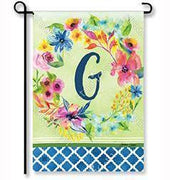 "Fresh & Pretty Floral Monogram ""G""  Garden Flag"