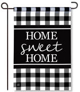 Black and White Garden Flag