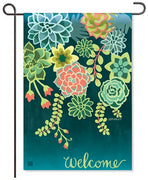 Boho Succulents Garden Flags