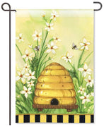 Bee Skep Garden Flag