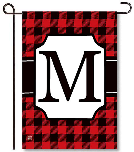 Buffalo Check Monogram M Garden Flag