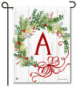 Winterberry Monogram A Garden Flag