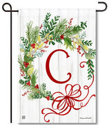 Winterberry Monogram C Garden Flag