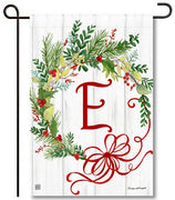 Winterberry Monogram E Garden Flag