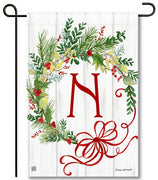 Winterberry Monogram N Garden Flag