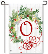 Winterberry Monogram O Garden Flag