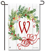 Winterberry Monogram W Garden Flag