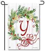 Winterberry Monogram Y Garden Flag