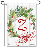 Winterberry Monogram Z Garden Flag