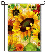 Yellow Fall Sunflower Garden Flag