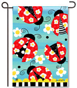 Folk Ladybugs Garden Flag