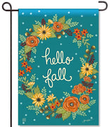 Fall Greeting Garden Flag