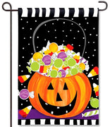 Halloween Candy Garden Flag