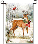 Woodland Christmas Garden Flag