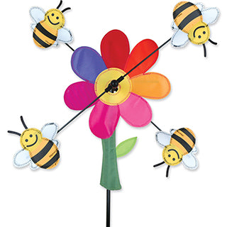 "13"" Bumble Bees/Flower Whirligig"