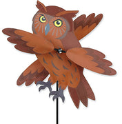 "17"" Brown Owl Whirligig Spinner"