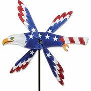 "18"" Patriotic Eagle Whirligig"