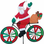 "30"" Santa Bicycle Spinner"