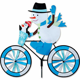 "30"" Snowman Bicycle Spinner"