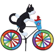 "30"" Tuxedo Cat Bicycle Spinner"