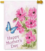 Mother's Day Floral House Flag