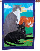 Kitty, Kitty, Kitty Big House Flag