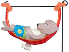 Puppy Nap Time Garden Charm