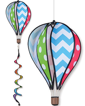 "Chevron/Polka Dot 16"" Hot Air Balloon"