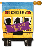 School Bus Applique House Flag