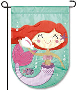 Mermaid Applique Garden Flag
