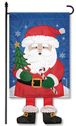 New Santa Crazy Legs Garden Flag