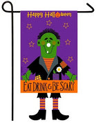 Frankenstein Crazy Legs Applique Garden Flag