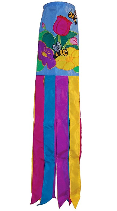 Floral Bee Windsock
