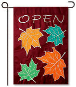 Fall Open Garden Flag
