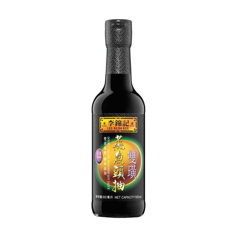 Double Deluxe Seasoned Soy Sauce 500ml | 雙璜蒸魚頭抽 500毫升
