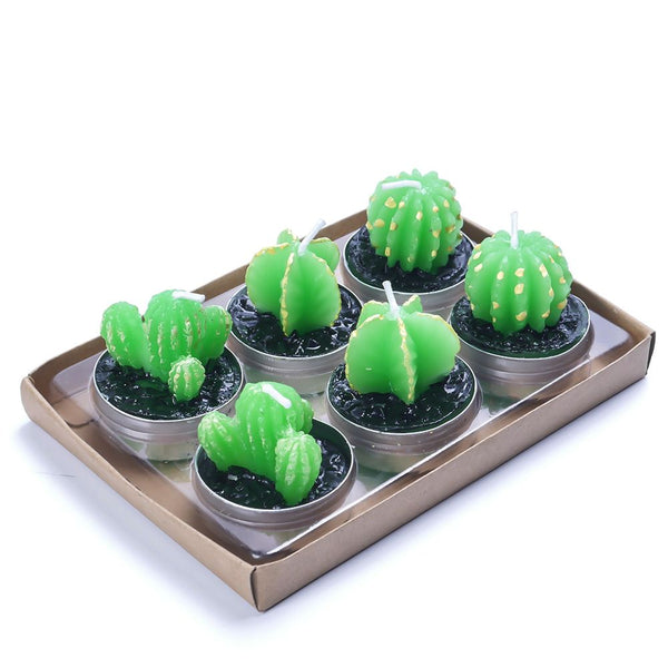 Cute Cactus Candles 6pcs