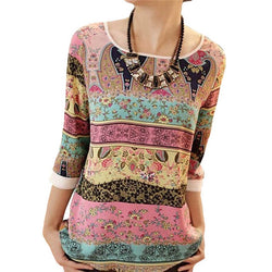 Colorful Boho Top (2 colors)